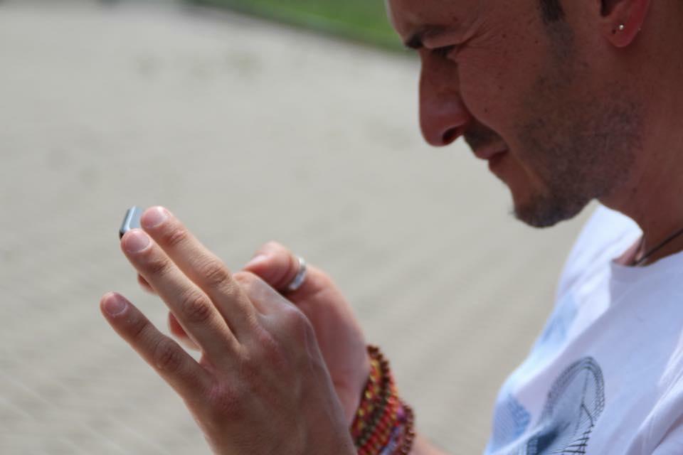 Vita con uno smartphone